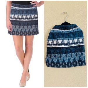 Sam Edelman wool blue tribal mini skirt 2